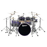 PREMIER North American Maple Shell Drum Kit Elite Series [Full Kit] - Purple Sparkle Fade Lacquer - Drum Kit